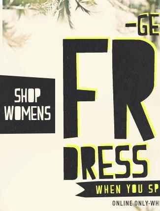 Womens Free Dress or Tee