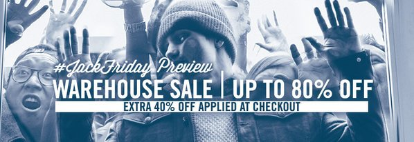 Shop Warehouse Sale JackFriday Preview