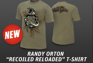 """Randy Orton """"Recoiled Reloaded"""" Authentic T"""