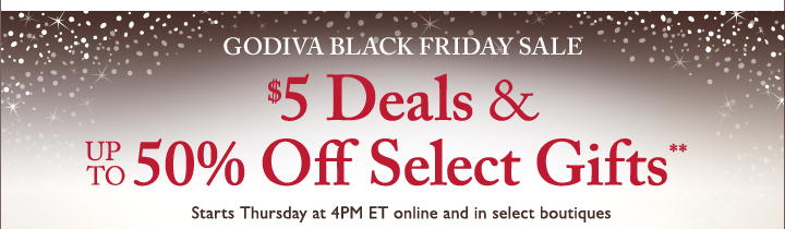 $5 Deals & UP TO 50% Off Select Gifts**
