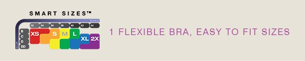 Comfort Revolution® Shaping Wirefree Smart Sizes™ | Style 3488 | 1 Flexible Bra, Easy To Fit Sizes