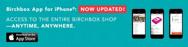 Birchbox App for iPhone
