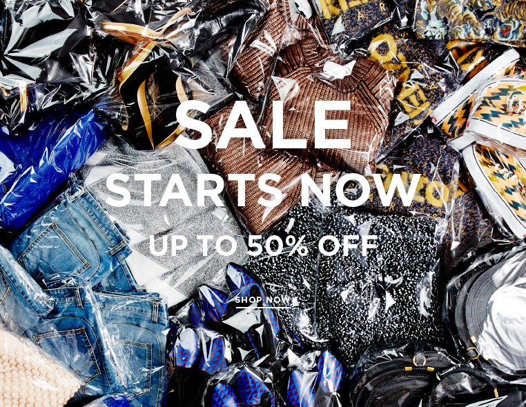 Sale starts now: Super deals at low, low prices Thousands of styles marked down at up to 50% off