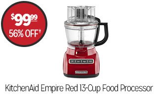 KitchenAid Empire Red 13-Cup Food Processor - $99.99 - 56% off‡