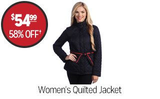 Women's Quilted Jacket - $54.99 - 58% off‡