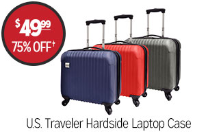 U.S Traveler Hardside Laptop Case - $49.99 - 75% off‡