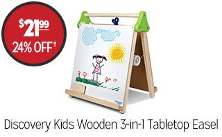 Discovery Kids Wooden 3-in-1 Tabletop Easel - $21.99 - 24% off‡