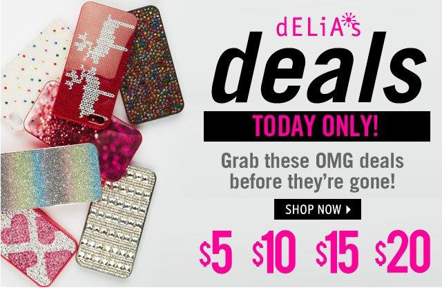 dELiA*s deals START TOMORROW!