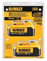 DEWALT Battery Pack, 4.0A/hr, PK2
