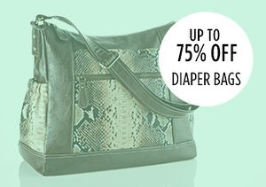 Up to 75% Off: Diaper Bags