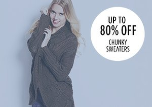 Up to 80% Off: Chunky Sweaters