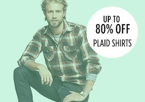 Up to 80% Off: Plaid Shirts