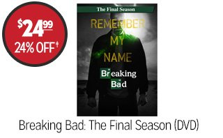 Breaking Bad: The Final Season (DVD) - $24.99 - 24% off�