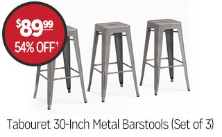 Tabouret 30-Inch Metal Barstools (Set of 3) - $89.99 - 54% off�