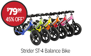 Strider ST-4 Balance Bike - $79.99 - 45% off�