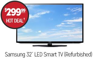 Samsung 32� LED Smart TV (Refurbished) - $299.99 - HOT DEAL�