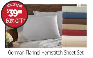 German Flannel Hemstitch Sheet Set - Starting at: $39.99 - 60% off�