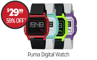 Puma Men's or Women's Digital Watch - $29.99 - 59% off�