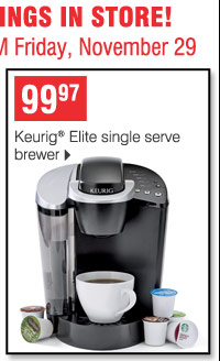 99.97 Keurig Elite single serve brewer
