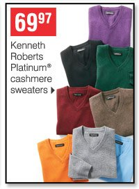 69.97 Kenneth Roberts Platinum cashmere sweaters