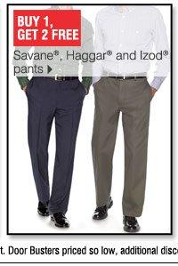 Buy 1, Get 2 Free Savane, Haggar and Izod pants