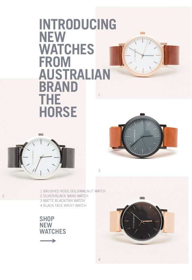 New Watches From The Horse