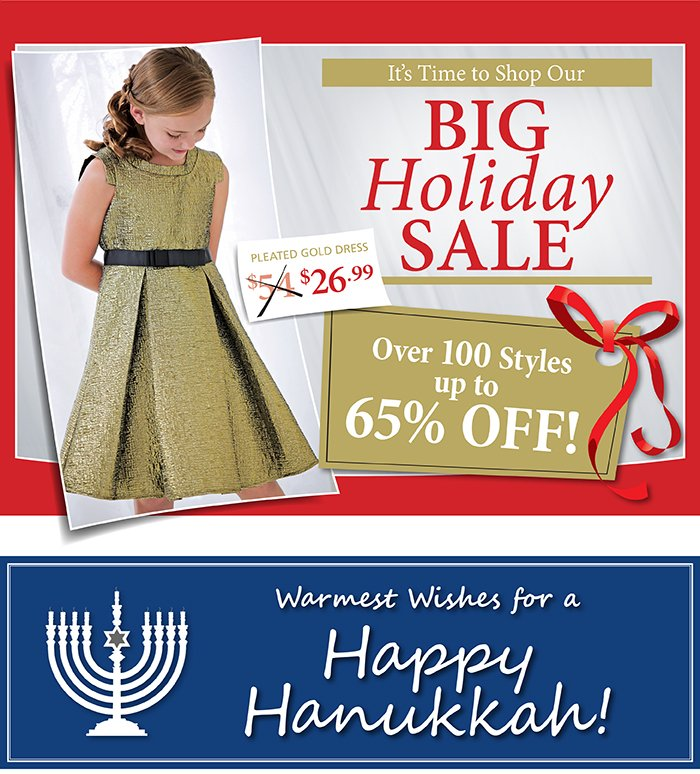 Shop Our Big Holiday Sale