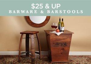 $25 & Up: Barware & Barstools