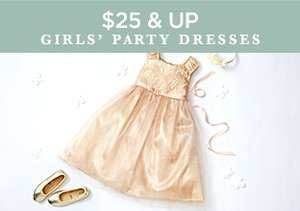 $25 & Up: Girls' Party Dresses