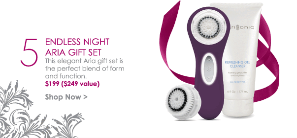 Endless Night Aria Gift Set - This elegant Aria gift set is the perfect blend of form and function. $199 ($249 value) Shop Now