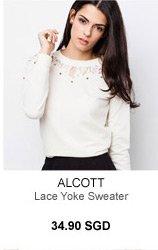 ALCOTT LACE YOKE SWEATER