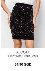 ALCOTT SKIRT WITH FRONT STARS