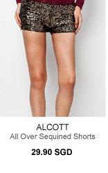 ALCOTT SEQUIN SHORTS