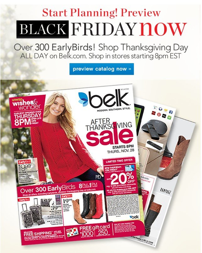 Start Planning! Preview Black Friday Now. Preview catalog now.