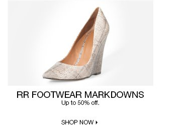 Up to 50%  off RR Footwear Markdowns