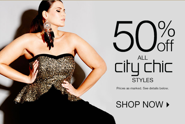 Shop 50% off all City Chic Styles