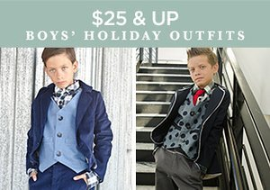 $25 & Up: Boys' Holiday Outfits