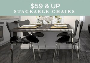 $59 & Up: Stackable Chairs