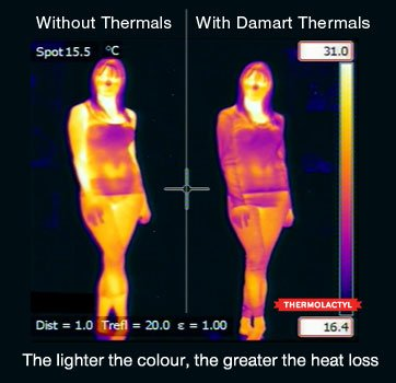 The lighter the colour, the greater the heat loss