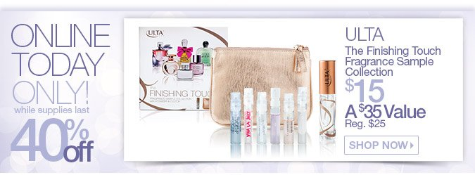 Today Only: ULTA The Finishing Touch Fragrance Sample Collection $15, Reg. $35, Save 40%