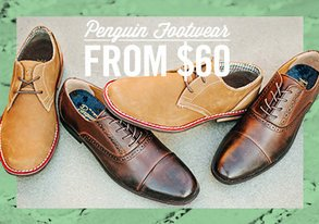 Shop Penguin Footwear from $60