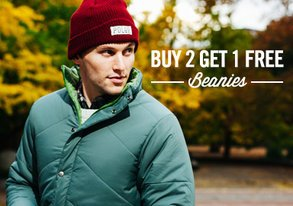 Shop Beanies from $12 ft. HUF & Poler