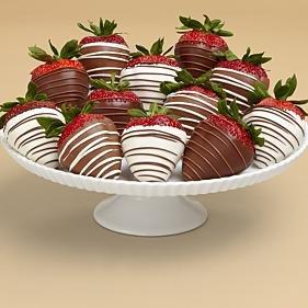 Full Dozen Swizzled Strawberries