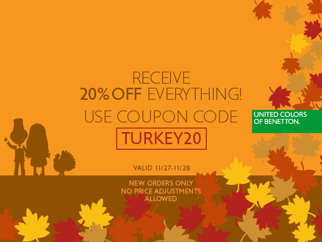 Save an extra 20% off today and Friday only.