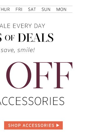 33% Off Bags and Accessories: Shop  Accessories