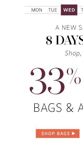 33% Off Bags and Accessories: Shop Bags