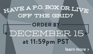 live off the grid? order by december 15