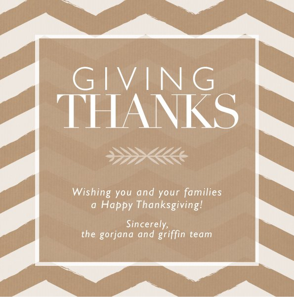 Happy Thanksgiving from g&g