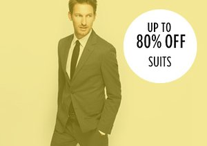Up to 80% Off: Suits