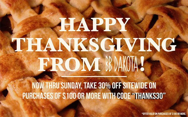 Happy Thanksgiving | 30% Off